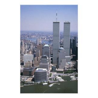 Papeterie Tours jumelles d'horizon de New York City