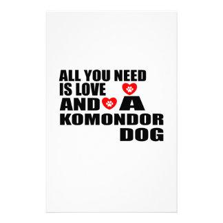 Papeterie Tous vous avez besoin des conceptions de chiens de