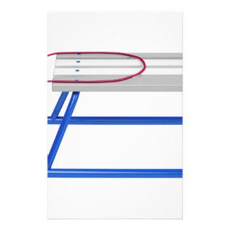 Papeterie Traîneau sur le blanc