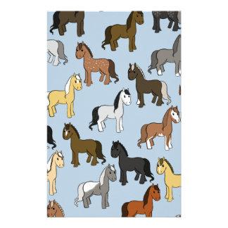 Papeterie Troupeau mignon de chevaux