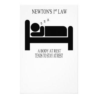 Papeterie Un corps tend au repos à rester au repos la loi de