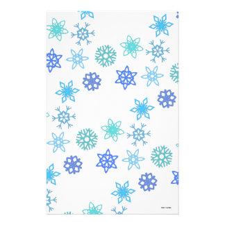 Papeterie Vacances de motif de flocons de neige