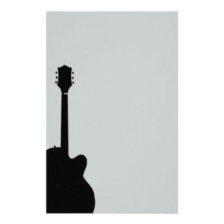 Papeterie vecteur de guitare de roche