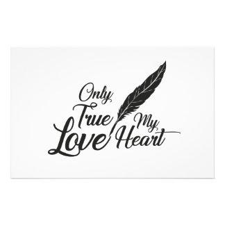 Papeterie Véritable plume d'amour d'illustration