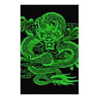 Papeterie Vert épique de dragon