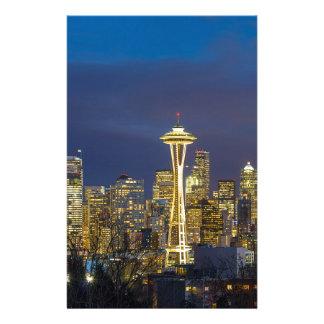 Papeterie Ville de Seattle pendant même le panorama bleu