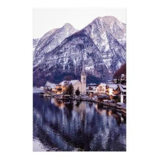 Papeterie Ville et montagnes de Noël