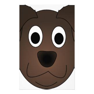 Papeterie Visage canin de chien de Brown