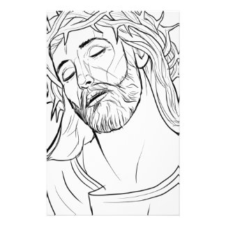 Papeterie Visage de la couronne de Jésus des épines