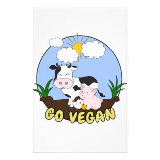 Papeterie Vont le végétalien - porc, vache et poulet mignons