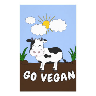 Papeterie Vont le végétalien - vache mignonne