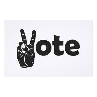 Papeterie Vote d'illustration pour la paix