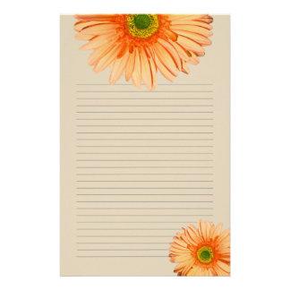 Papier à lettres personnel rayé par marguerite papeterie