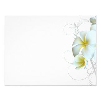 Papier blanc simple d'invitation de Flourish de Carton D'invitation 10,79 Cm X 13,97 Cm