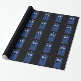 Papier bleu-foncé de geek de nuit étoilée de boîte papier cadeau