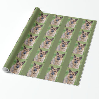 Papier brillant d'emballage cadeau de chien de papier cadeau