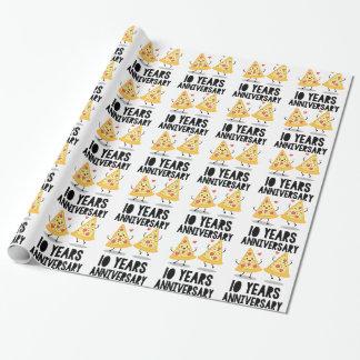 Papier Cadeau 10ème T-shirt d'anniversaire