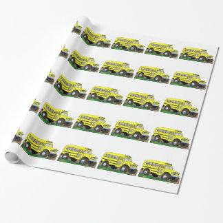 Papier Cadeau 57 Chevrolet outre d'autobus scolaire de la route