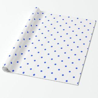 Papier Cadeau À petits pois bleu petit