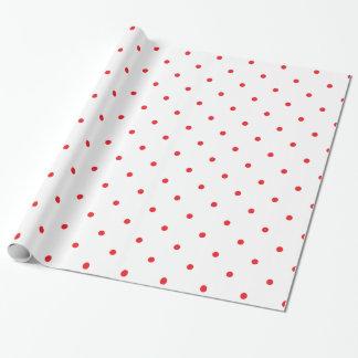 Papier Cadeau À petits pois rouge petit