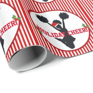 Papier Cadeau Acclamation Cheerleading de vacances de Noël