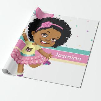 """Papier Cadeau Afro-américain bouclé, papier d'emballage, 30"""" x"""