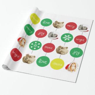 Papier Cadeau Ajoutez votre propre Noël mignon de photo de