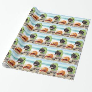 Papier Cadeau Amis pour toujours : Crabe + Carlin de tortue