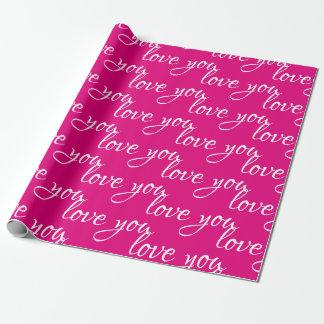 """Papier Cadeau """"Amour adorable vous"""" papier de soie de soie"""