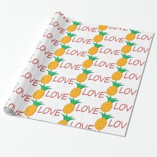 Papier Cadeau Amour d'ananas