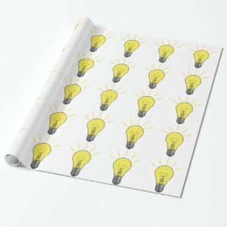 Papier Cadeau Ampoule d'idée lumineuse