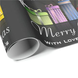 Papier Cadeau Amusement et Joyeux Noël personnalisé de fête