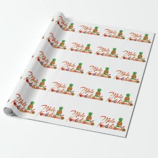 Papier Cadeau Ananas de Hawaïen de Mele Kalikimaka