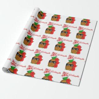 Papier Cadeau Ananas de Noël de Mele Kalikimaka