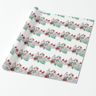 Papier Cadeau anges vintages de Noël