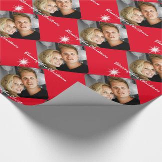 Papier Cadeau Anniversaire personnalisé de famille de photo