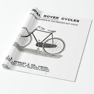 PAPIER CADEAU ANNONCE VINTAGE DE CYCLE