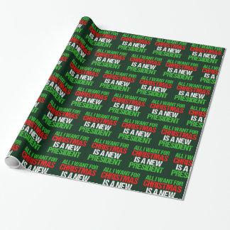 Papier Cadeau Anti atout drôle tous que je veux pour Noël