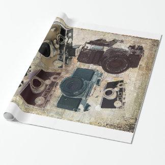 Papier Cadeau Appareil-photo grunge de cru de photographie de