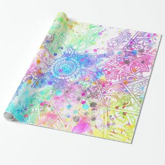 Papier Cadeau Aquarelles tirées par la main de conception de