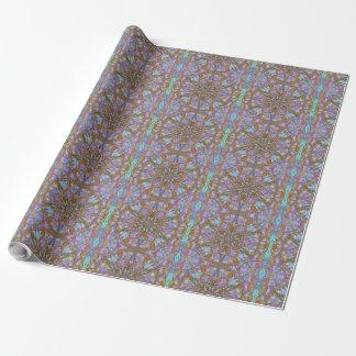 Papier Cadeau arabesque coloré Boho-romantique d'ornement de