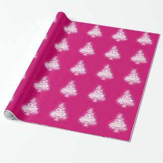 Papier Cadeau Arbre de Noël blanc de zen