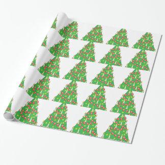 Papier Cadeau Arbre de Noël danois