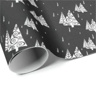 Papier Cadeau Arbre de Noël de tableau