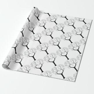 Papier Cadeau Arbre de Thumbprint