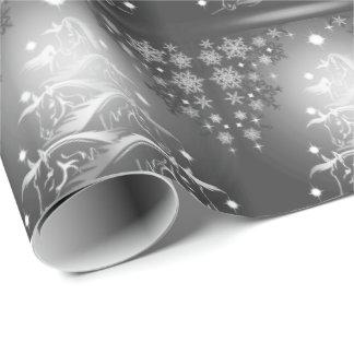 Papier Cadeau Arbres de Noël abstraits de charbon de bois