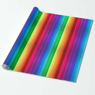 Papier Cadeau Arc-en-ciel sans couture coloré unique dépouillé