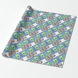 Papier Cadeau Argent d'économie
