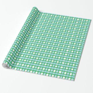Papier Cadeau Armure bleue en pastel de vert, blanche et