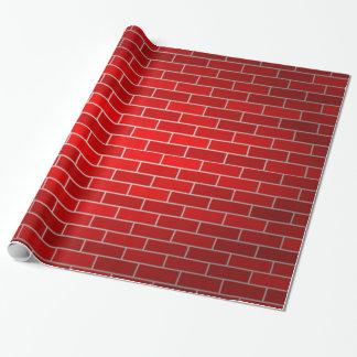 Papier Cadeau Arrière - plan de brique rouge